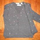 Valerie Stevens Merino Wool Cardigan Sweater SZ XL