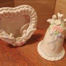 Porcelain Picture Frame & Bell
