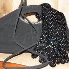 Ladies Black Evening Bag with Black Gloves