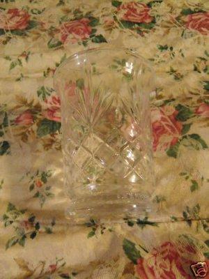 Contemporary Cut Glass Vase