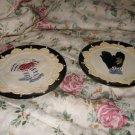Beautiful Decorative Plates Black trim with Tan
