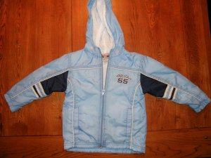 Light Blue Toddlers Nylon Jacket Size 4T