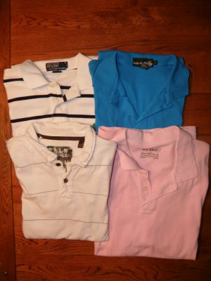 Ralph Lauren Old Navy & Palm Vintage Polo Shirts SZ M-L