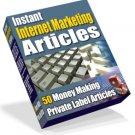 50 Instant Internet Marketing Articles