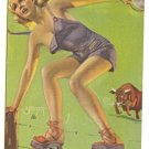 MUTOSCOPE CARD 1940s Zoe Mozert AFTER ALL,EVERYBODY MAKES MISTAKES