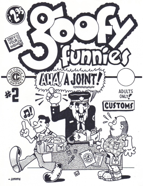 GOOFY FUNNIES #2 COVER ART - Dexter Cockburn Underground Comix