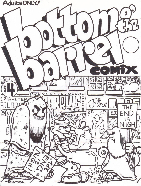 BOTTOM O THE BARREL COMIX #1 COVER ART - Dexter Cockburn Underground Comix