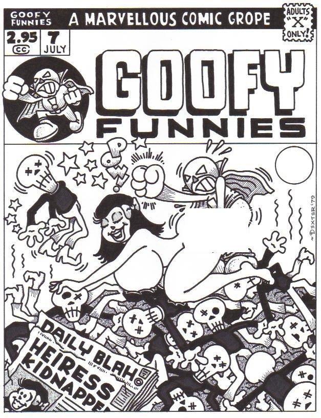 GOOFY FUNNIES #7 COVER ART - Dexter Cockburn Underground Comix