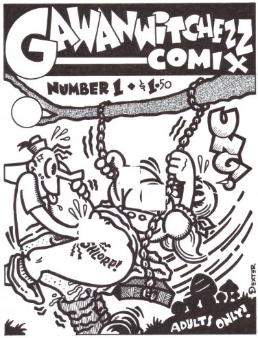 GAWANWITCHEZZ COMIX COVER ART - Dexter Cockburn Underground Comix