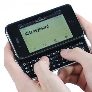 Sliding Bluetooth Keyboard +Hardshell Case for iPhone 4