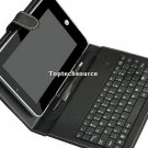 Black Leather Case with USB Keyboard for 7 inch MID Tablet PC