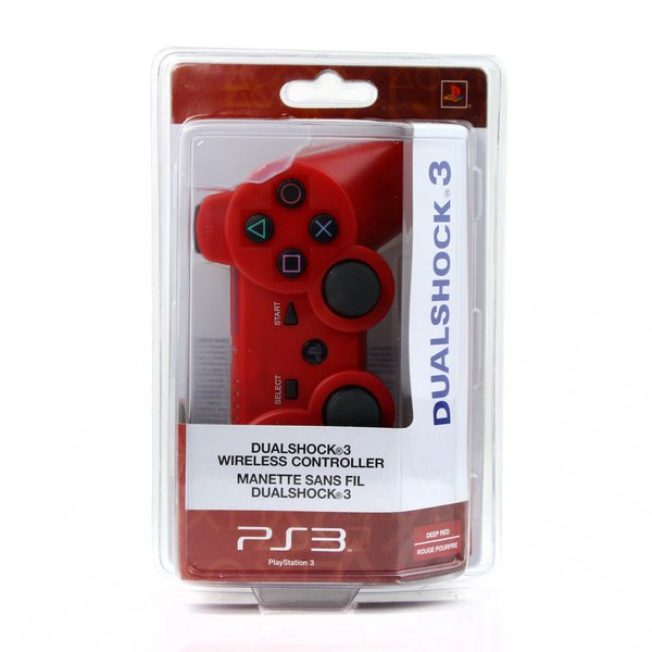 Red Dualshock 3 Wireless Bluetooth Game Controller for Sony PS3