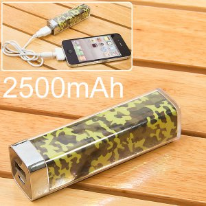 2500mAh Power Charger Battery Bank for iPhone 4/4S, Various Cell Phones and Digital Devices camo