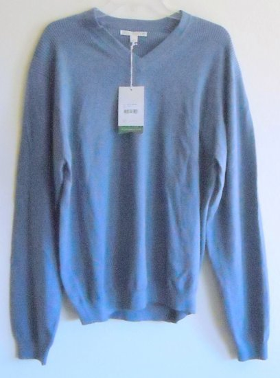 Cutter & Buck blue v neck sweater pullover size L / G