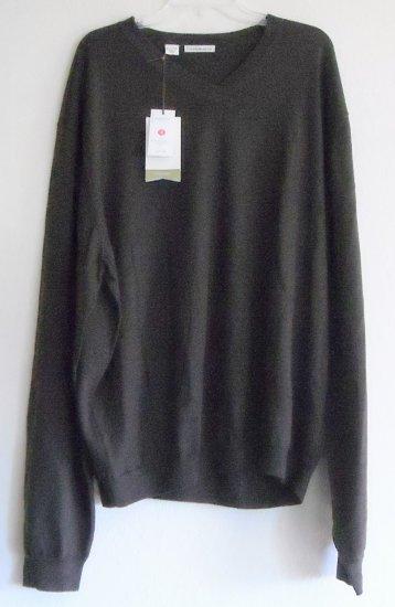 Mens extra fine Italian Merino Cutter & Buck sweater pullover size XLT / TGL