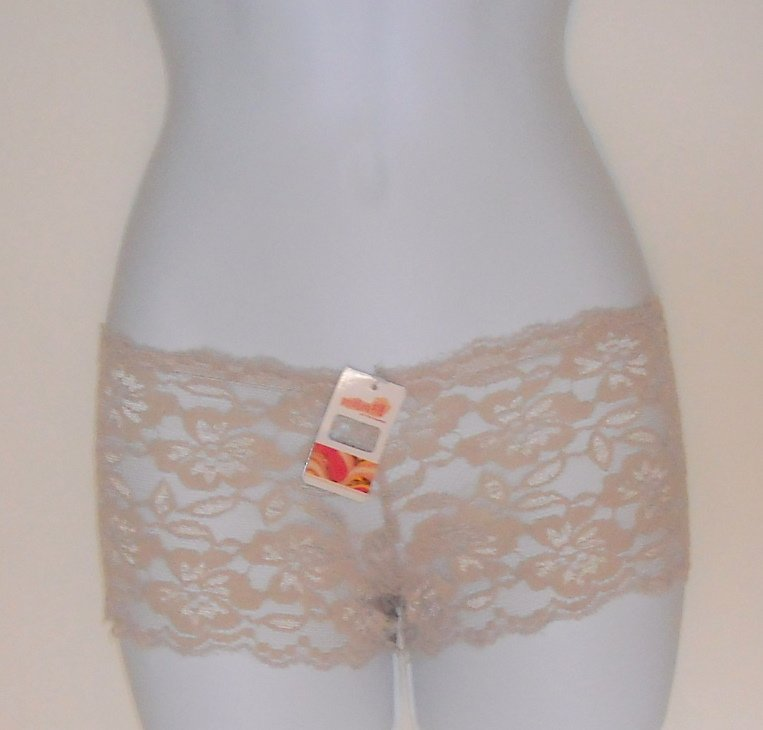 Hipster Lot of 3 women's floral openwork lace Boyshorts intimates panties size S