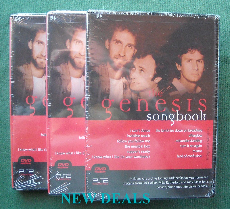 Genesis Songbook Lot of 3 music DVD 801213000890