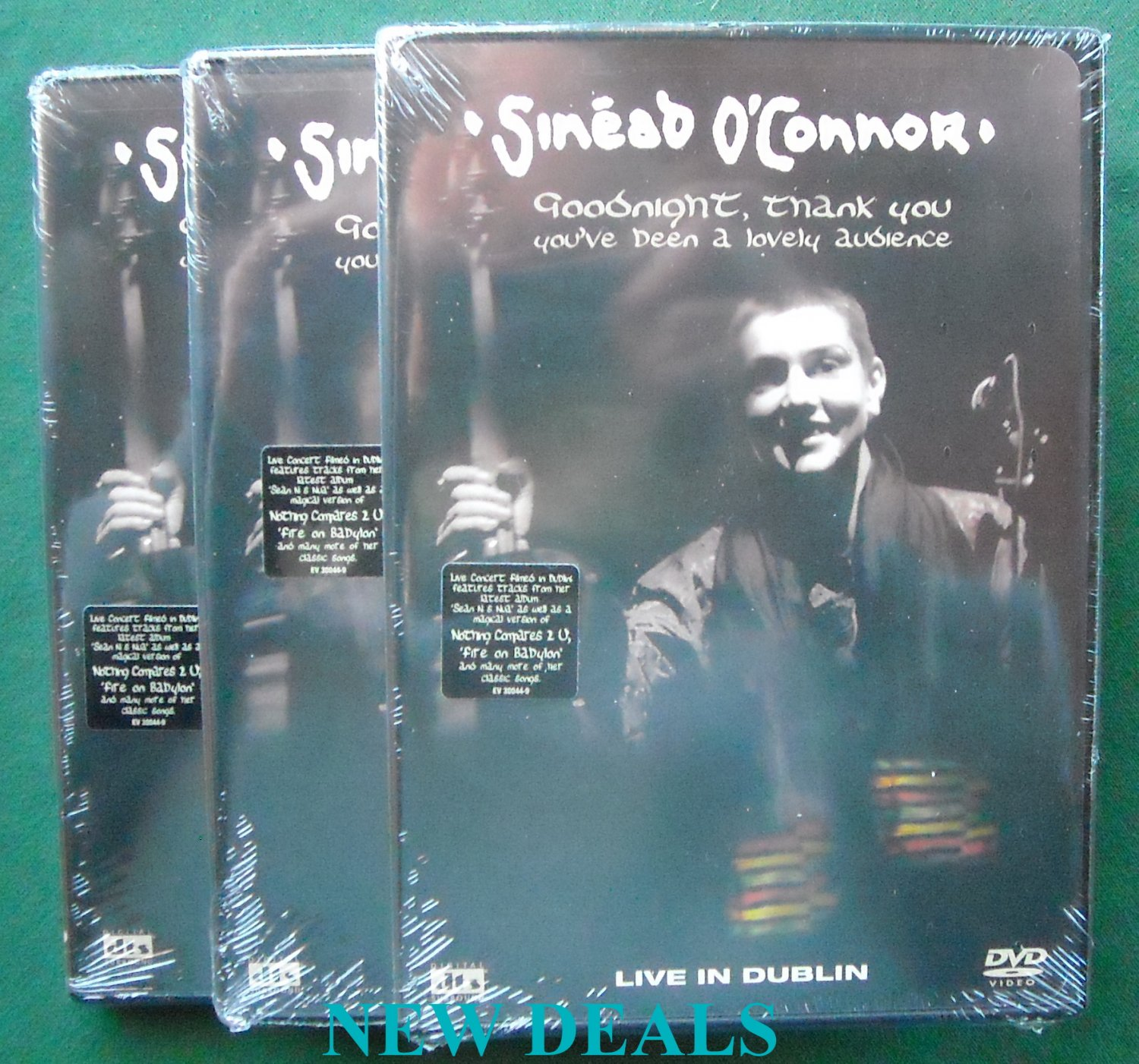 Lot of 3 Sinead O'Connor Goodnight Thank music DVD 801213004492