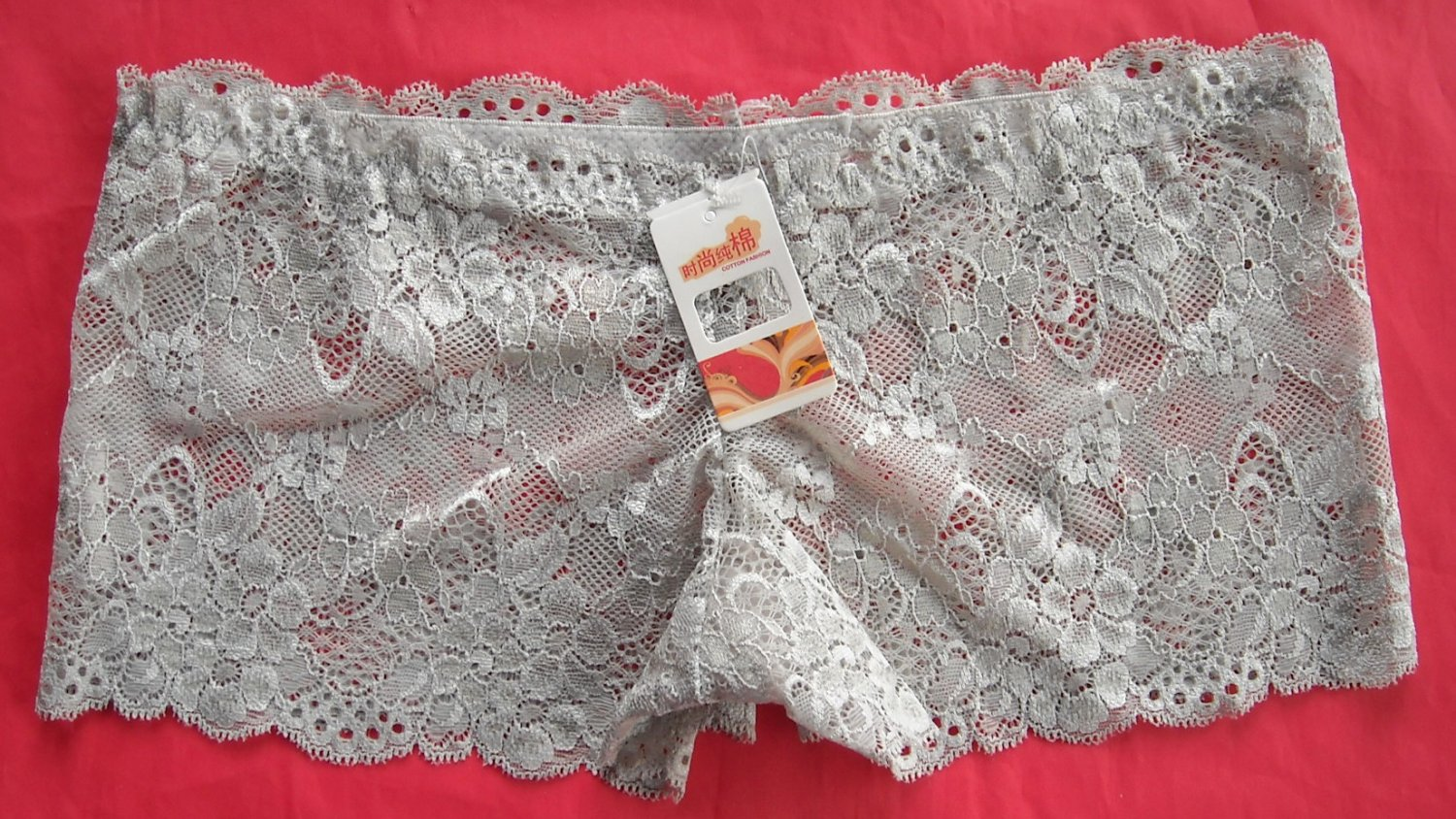 Lot of 3 womens Silver openwork lace Boyshorts intimates underwear panties size S NWT