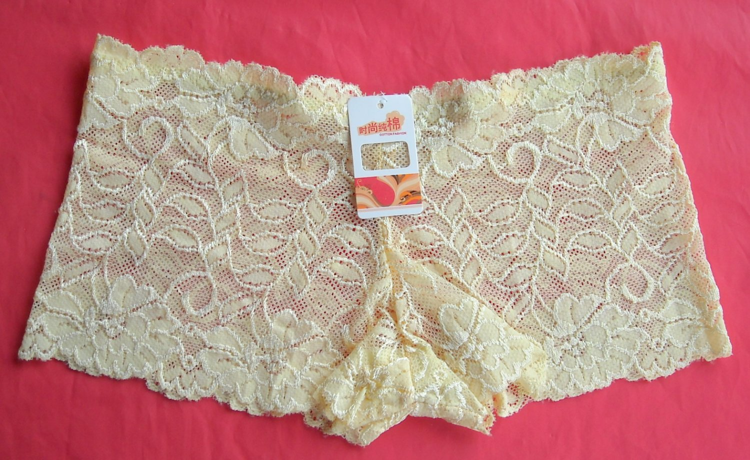 Lot of 3 hipster Lemon openwork lace Boyshorts intimates underwear panties size S NWT