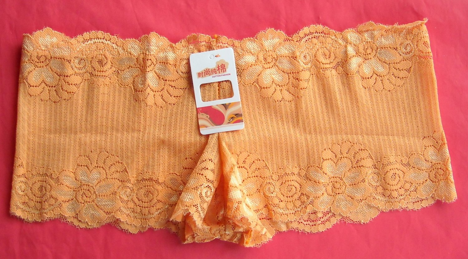 Boyshorts intimates underwear panties Lot of 3 womens Peach openwork lace size S NWT