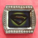 Superman Rhinestone metal belt buckle