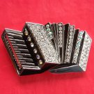 Piano Key Accordion Rhinestone metal belt buckle