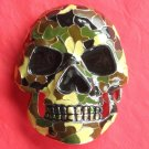 Skull Camouflage Color Metal Belt Buckle