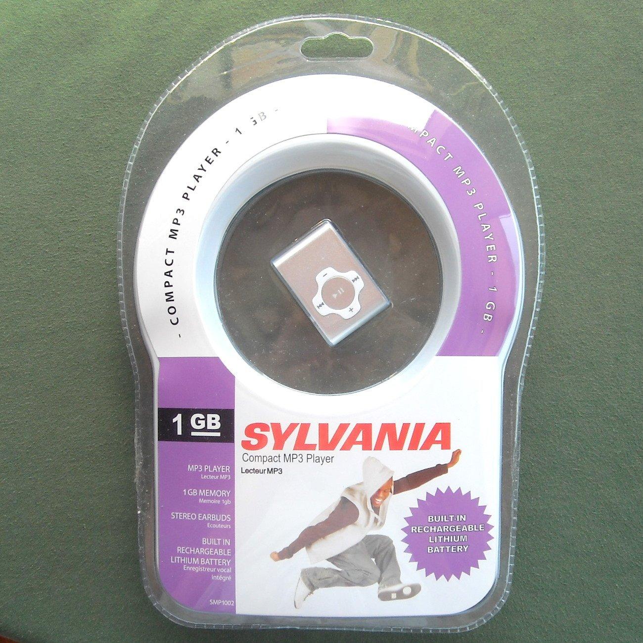 Sylvania SMP1002 Silver 1 GB Clip MP3 Player