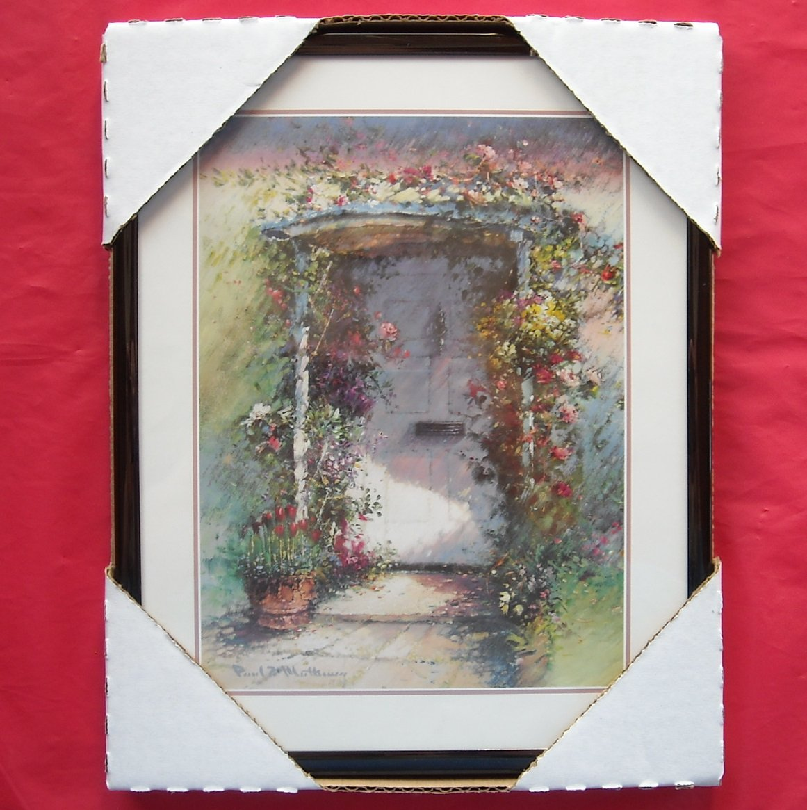 Rose Arbor at the Front Door Framed Kitchen Wall Art Print