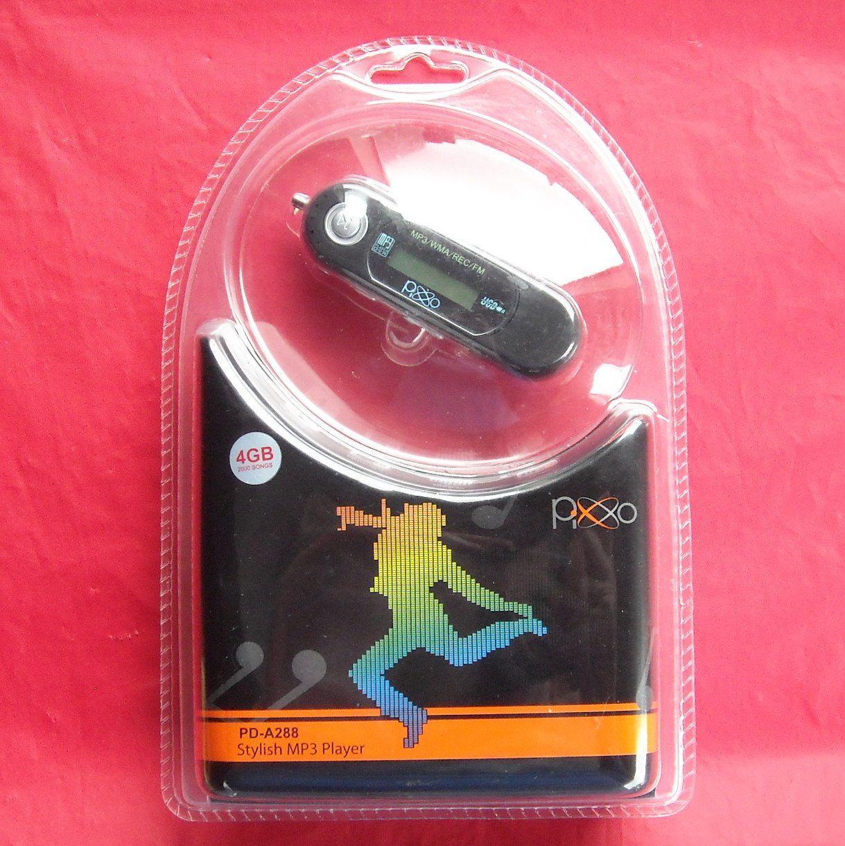 Pixxo PD A288 Stylish Black 4 GB USB MP3 Player