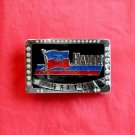 Haiti Rhinestone Chrome Color Belt Buckle