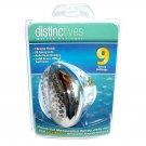 Distinctives Deluxe Massager Fixed Shower Head 9 Spray Settings Chrome