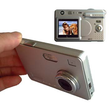 ULTRA SLIM DIGITAL CAMERA 4X ZOOM 5.6 MP+ 256MB SD CARD