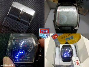 TVG Speedometer RPM Turbo LED Watch 7 COLORS WATER RESISTANT 3 ATM + BONUS 2 BATTERIES!
