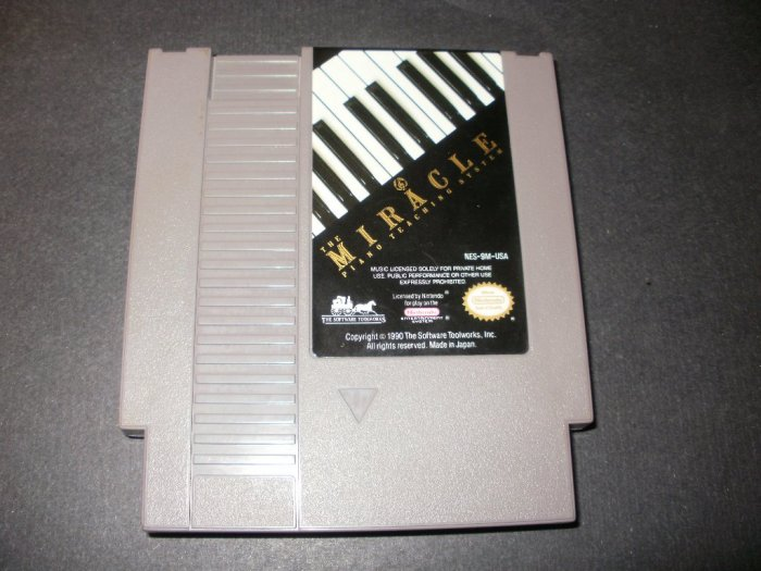 Miracle Piano Teaching System - Nintendo NES - Rare