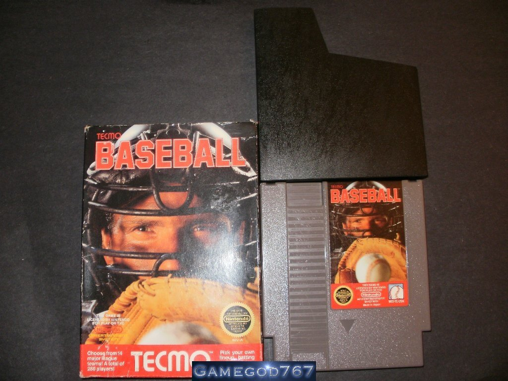 Tecmo Baseball - Nintendo NES - With Box and Catridge Sleeve