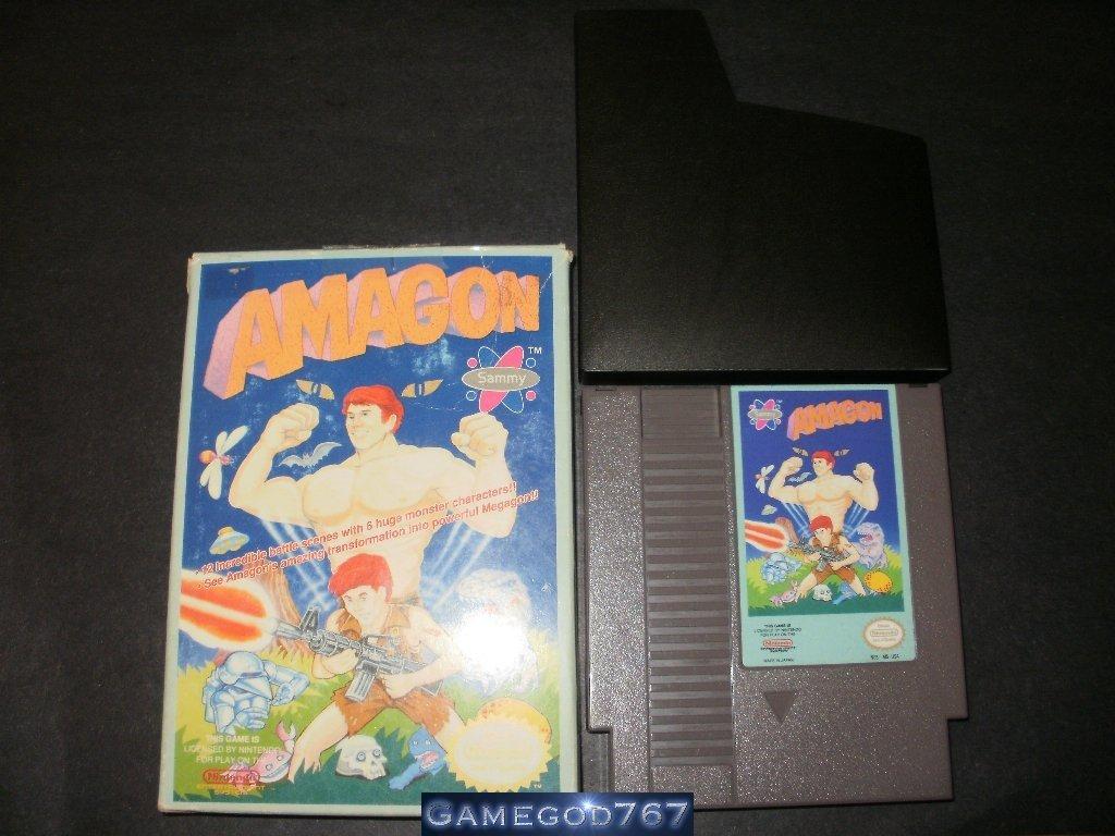 Amagon - Nintendo NES - With Box & Catridge Sleeve