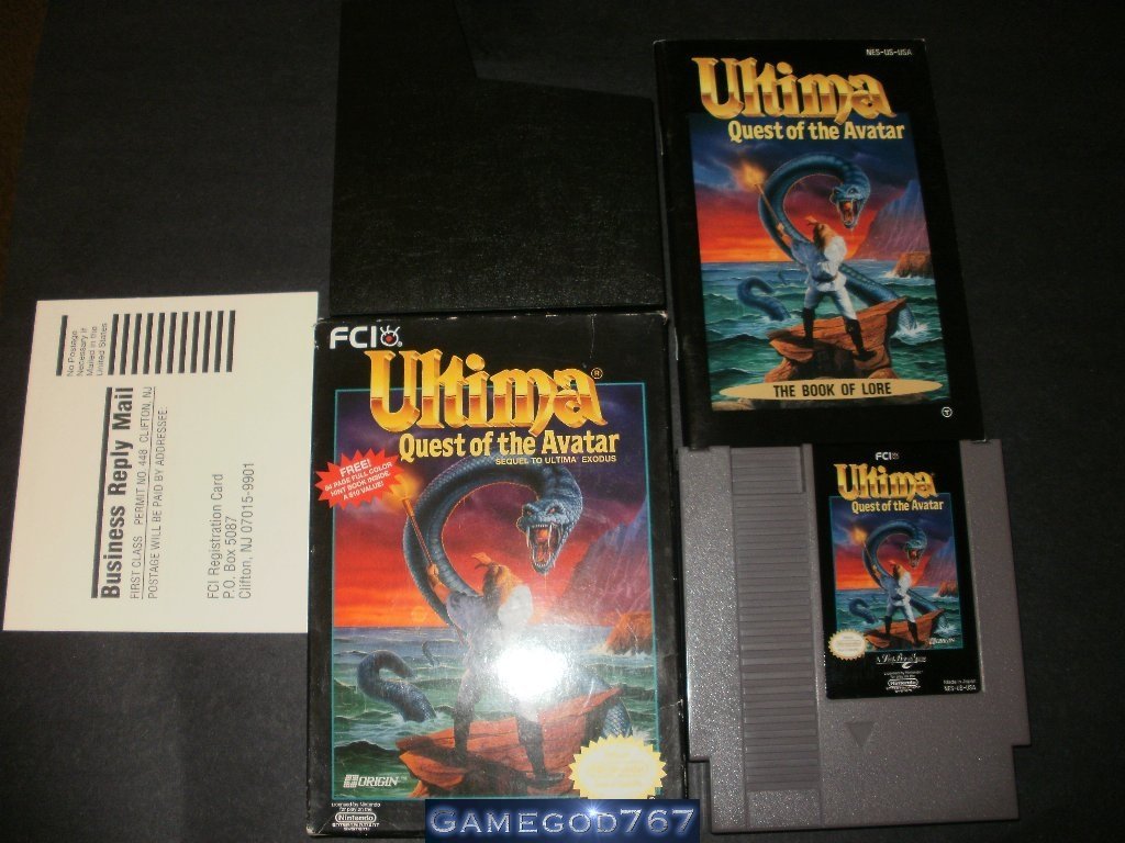 Ultima Quest of the Avatar - Nintendo NES - Complete CIB - Rare