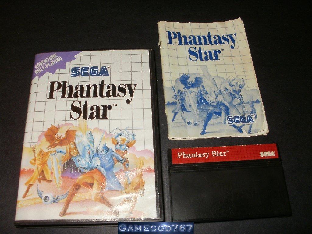 Phantasy Star - Sega Master System - Complete CIB Rare