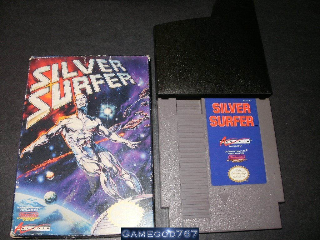 Silver Surfer - Nintendo NES - With Box and Cartridge Sleeve