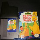 Sesame Street Big Bird's Hide & Speak - Nintendo NES - With Box and Cartridge Sleeve