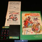 Las Vegas Poker & Blackjack - Mattel Intellivision - Near Complete CIB (Missing 1 Overlay)
