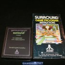 Surround - Atari 2600 - Text Label Version - With Manual