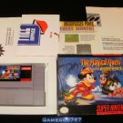 Magical Quest Starring Mickey Mouse - SNES Super Nintendo - With Box & Pamphlets