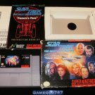 Star Trek The Next Generation Future's Past - SNES Super Nintendo - Complete CIB