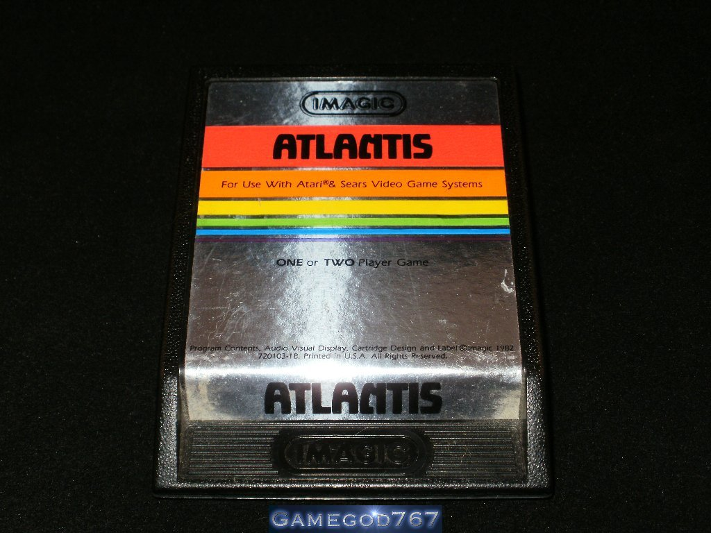 Atlantis - Atari 2600 - Silver Text Label