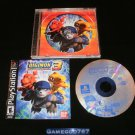 Digimon World 3 - Sony PS1 - Complete CIB - Rare Black Label Original Release