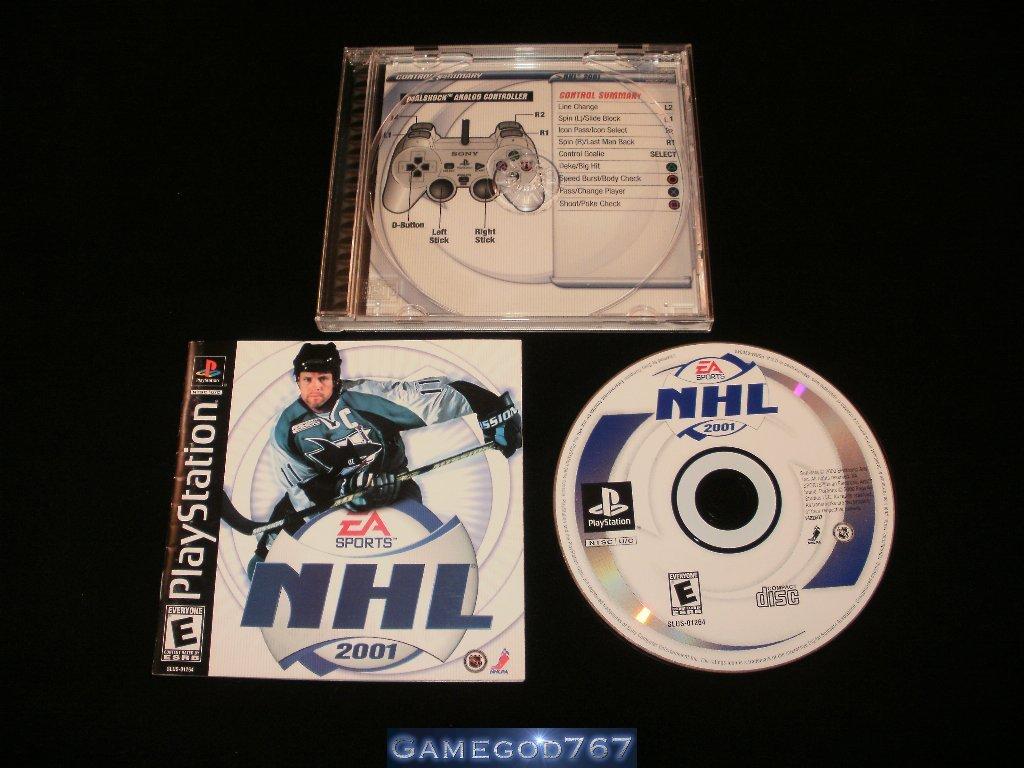 NHL 2001 - Sony PS1 - Complete CIB