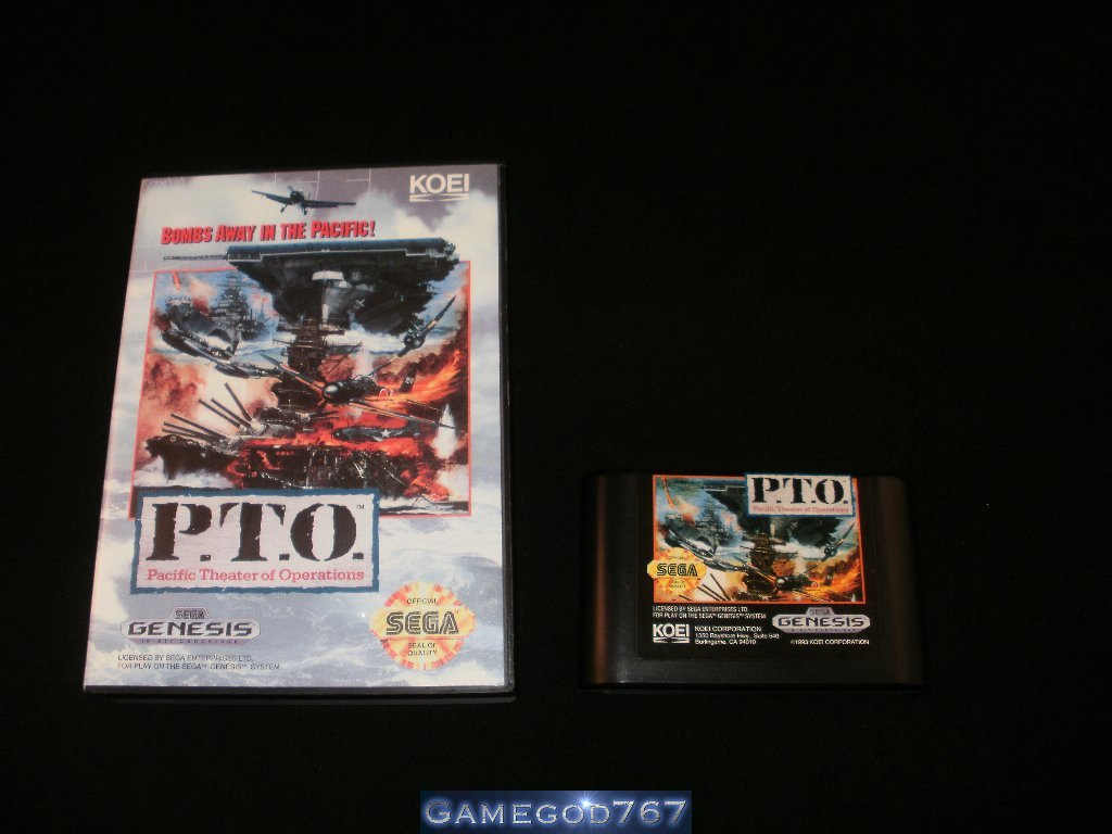 Pacific Theater of Operations - Sega Genesis - With Box